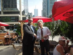 Ronin and Creighton celebrate a very successful day at post-event eats and drinks in downtown Toronto.